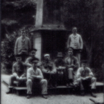 33079 wounded men of the great war, at the obelisk, abbey manor