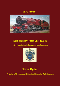 Sir Henry Fowler - front cover v7
